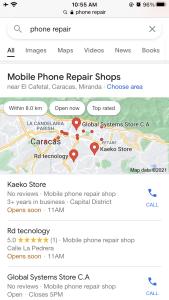 business profile phone