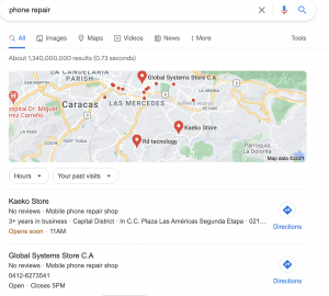 business profile computer google search