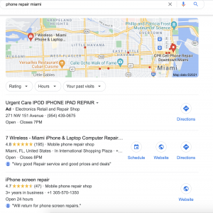 Google My Business optimizations for small business
